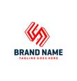 modern monogram letter s logo design vector image