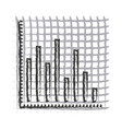 monochrome blurred silhouette of statistic graphic vector image vector image
