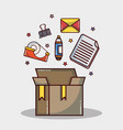 office element icon to company strategy vector image