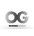 og o g lines letter design with creative elegant vector image vector image