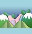 paper art scenery vector image vector image