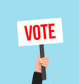 picket placard sign vote election protest vector image