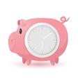 Pig Pink Clock Symbol Icon vector image