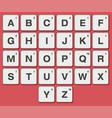 plastic tiles alphabet vector image
