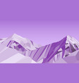 purple mountains low poly nature vector image vector image