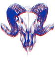 ram skull 3d vector image vector image