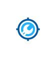 repair target logo icon design vector image vector image