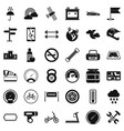 riding icons set simple style vector image vector image