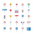 road sings icon set cartoon style vector image