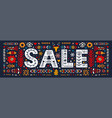 sale lettering in ethnic folk style hand drawn vector image