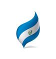 salvador flag vector image vector image