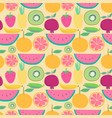 seamless pattern with fruit background vector image vector image