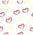 seamless pattern with hearts - valentines day card vector image vector image