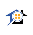 searching house logo search home icon with vector image