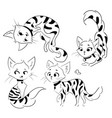 set cartoon cats collection cute spotted vector image vector image