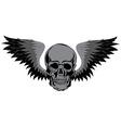 Skull T-shirt design Tatoo art vector image vector image