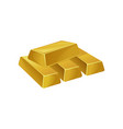 stack of gold bars ingots bullions banking vector image
