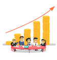 teamwork people conference workers finance vector image vector image