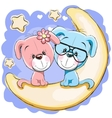 Two Dogs on the moon vector image vector image