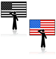 United States salute vector image