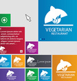 vegetarian restaurant icon sign buttons Modern vector image vector image