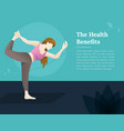 yoga for health vector image
