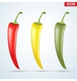 Set of hot chili peppers vector image