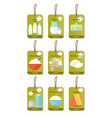 dairy products flat set vector image