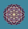 ethnic element round ornament vector image