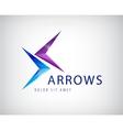 arrows icon logo isolated vector image