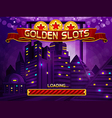 Loading screen for slots game vector image