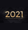 2021 merry christmas and happy new year luxury vector image