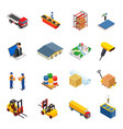 3d isometric warehousetransportation vector image vector image