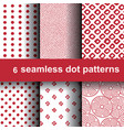 6 dot patterns vector image