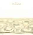 abstract golden stripe line wavy ocean pattern vector image vector image