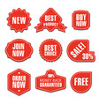 advertising colorful stickers vector image vector image