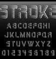 alphabet font stroke design vector image vector image