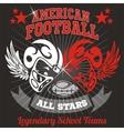 American football - Vintage print for boy vector image vector image