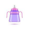 baby bottle for liquids on vector image vector image