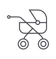 baby buggycarriage line icon sign vector image vector image