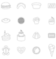 Bakery icons set thin line style vector image vector image