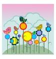 Birds on flowers