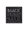 black friday sale freehand drawing vector image vector image