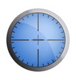 blue crosshair icon realistic style vector image