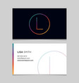 business-card-letter-l vector image vector image