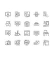buy online line icons signs set outline vector image vector image