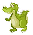 cartoon of an alligator vector image