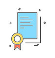 certificate icon design vector image