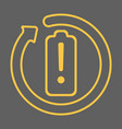 charge your battery exclamation icon vector image