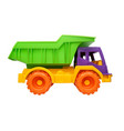 children toy truck on a white vector image